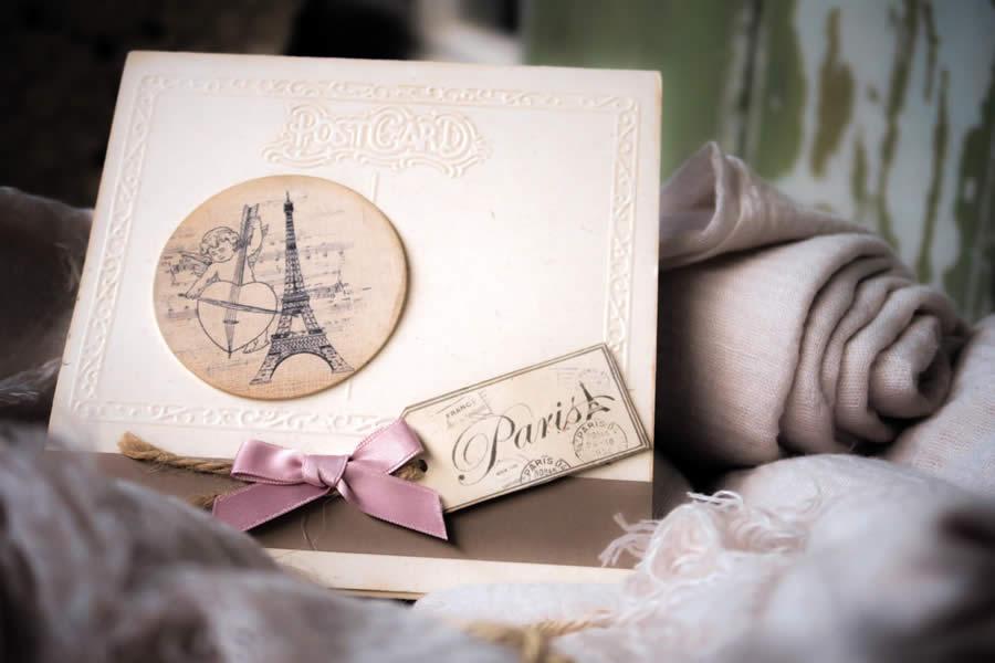 Partecipazione di matrimonio con Torre Eiffel