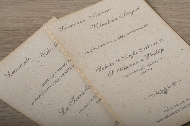 spesso Partecipazioni Matrimonio Vintage per le tue Nozze VP35