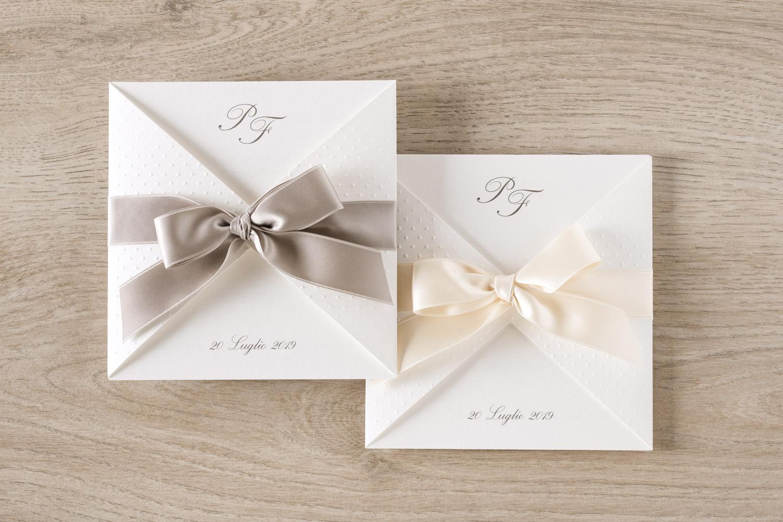 Partecipazioni Matrimonio Con Fiocco.Aurora Partecipazione Nozze Elegante Con Fiocco