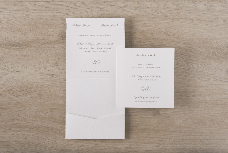 Conosciuto Partecipazioni Con Fiocco Raso e Satin per Matrimonio Nozze JY57